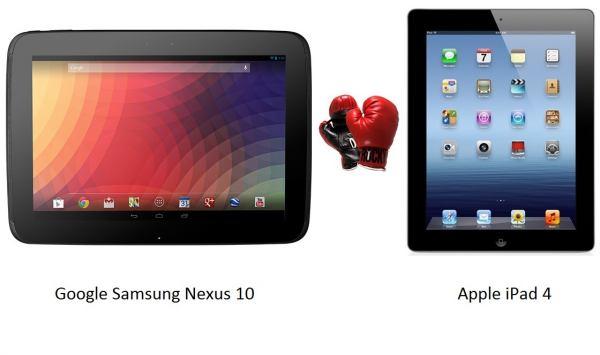 So sánh iPad 4 với Nexus 10