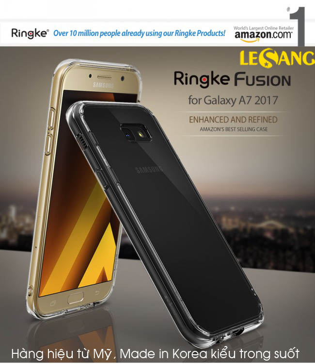 Ốp lưng A7 2017 Ringke Fusion trong suốt chống sốc từ Mỹ - 2
