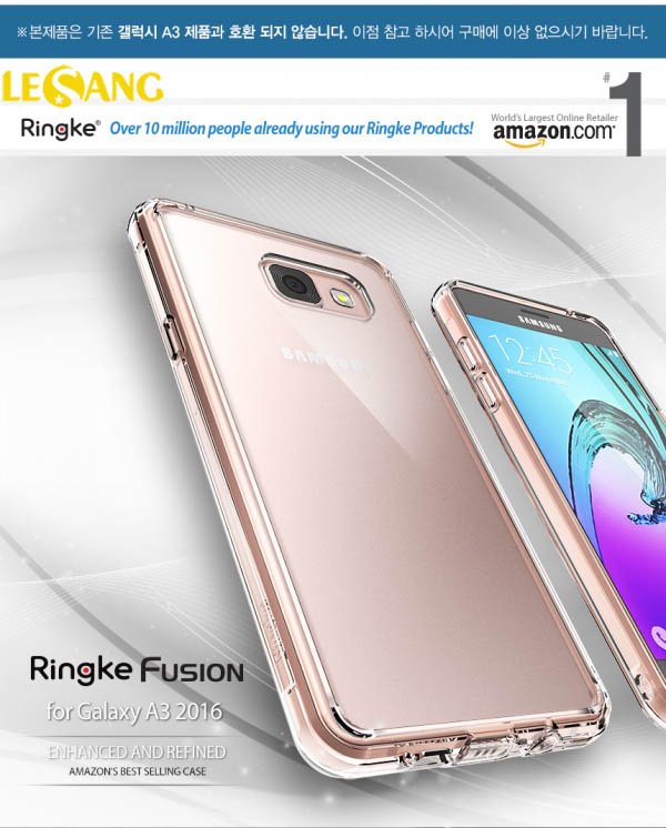 Ốp lưng Galaxy A3 2016 Ringke Fusion trong suốt chống sốc - 2