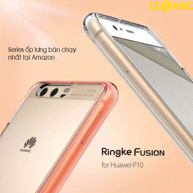 Ốp lưng Huawei P10 Ringke Fusion trong suốt chống sốc - 2