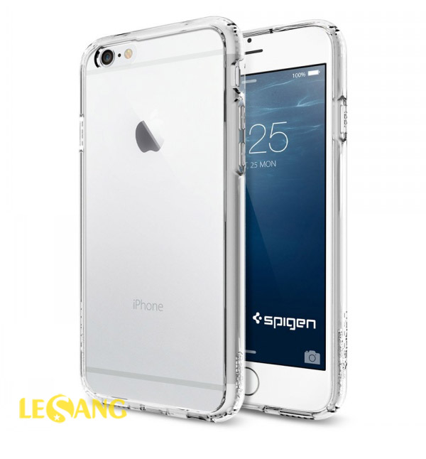 Ốp lưng iphone 6/6S Plus Ultra Crytal nhựa dẻo trong suốt từ Spigen - 4