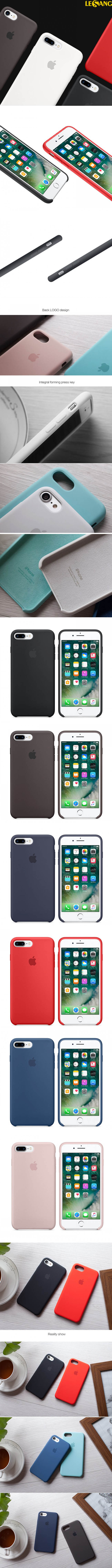 Ốp lưng iphone 7 Plus Apple Case Silicon chính hãng 100%, Full Box - 5