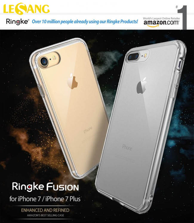 Ốp lưng iphone 7 Plus Ringke Fusion trong suốt chống sốc - 2