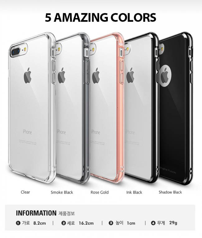 Ốp lưng iphone 7 Plus Ringke Fusion trong suốt chống sốc - 4