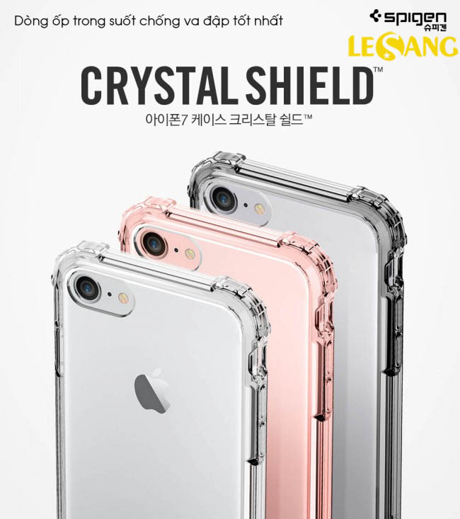 Ốp lưng iPhone 8 / iPhone 7 Spigen Crytal Shell trong suốt chống sốc - 3