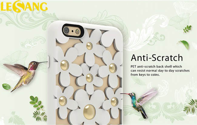 Ốp lưng iphone 7 / iPhone 8 SwitchEasy Fleur 3D in hoa nổi cực đẹp - 3