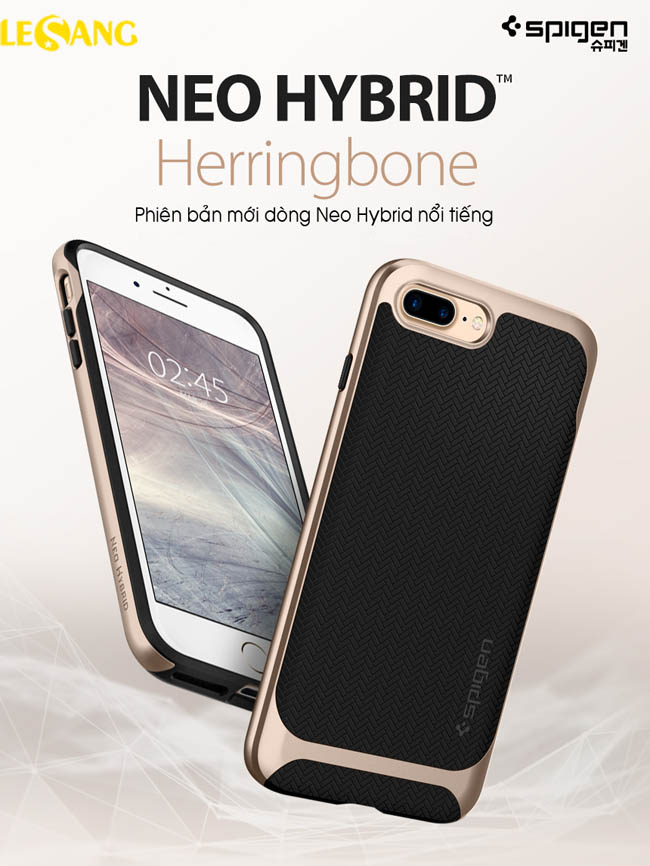 Ốp lưng iPhone 8 Plus Spigen Neo Hybrid Herringbone 2018 - 3