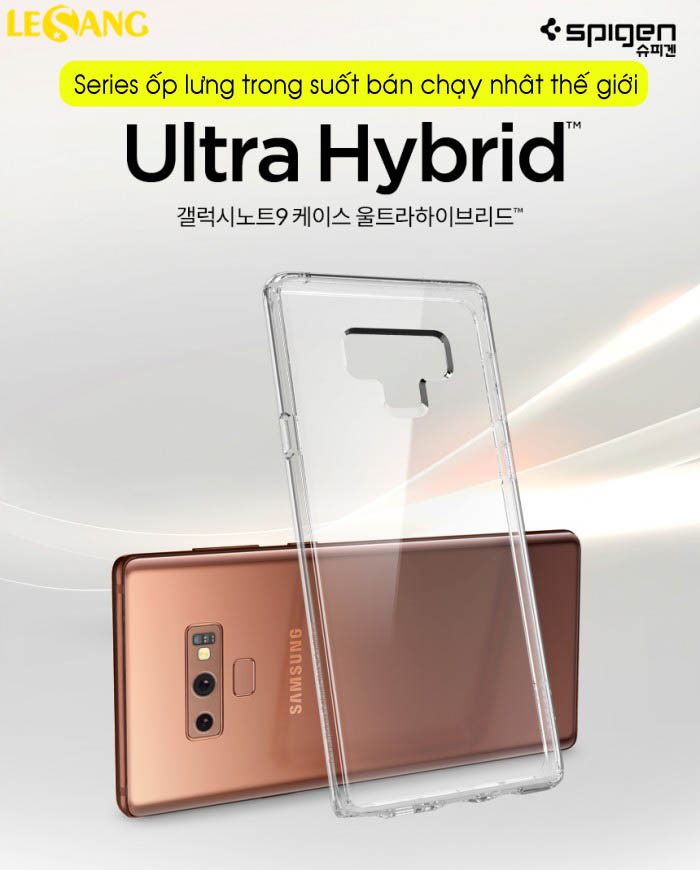 Ốp lưng Samsung Note 9 Spigen Ultra Hybrid trong suốt chống sốc - 8