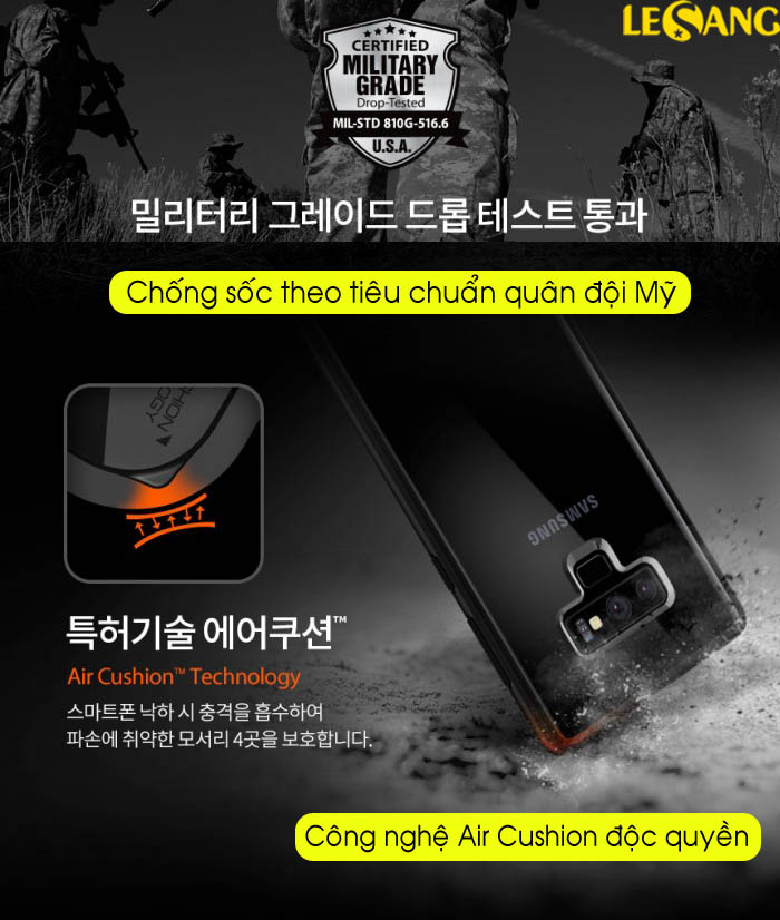 Ốp lưng Samsung Note 9 Spigen Ultra Hybrid trong suốt chống sốc - 10
