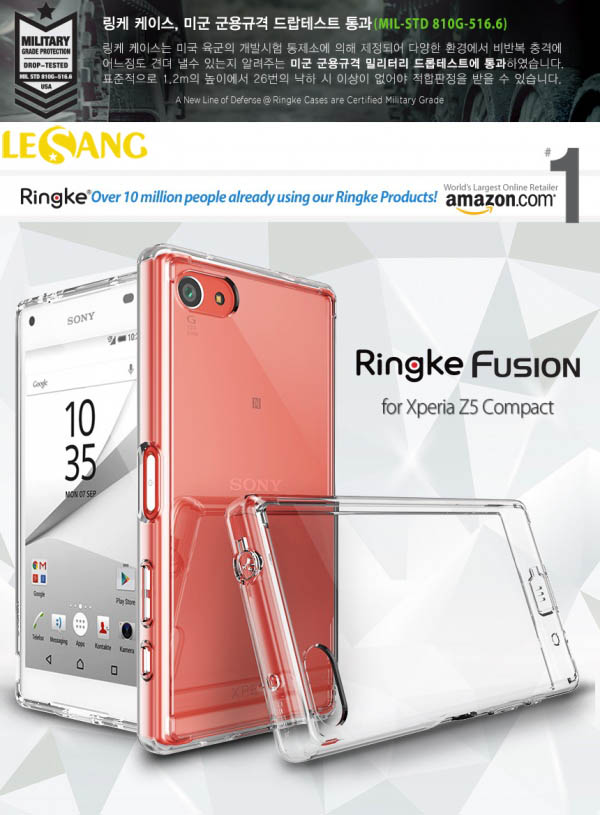 Ốp lưng Sony Z5 Compact Ringke Fusion trong suốt chống sốc - 2