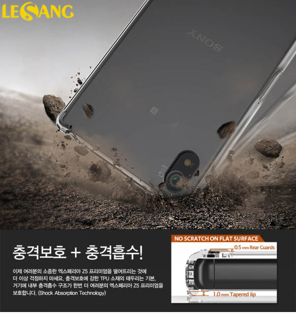 Ốp lưng Sony Z5 Premium Ringke Fusion trong suốt chống sốc - 3