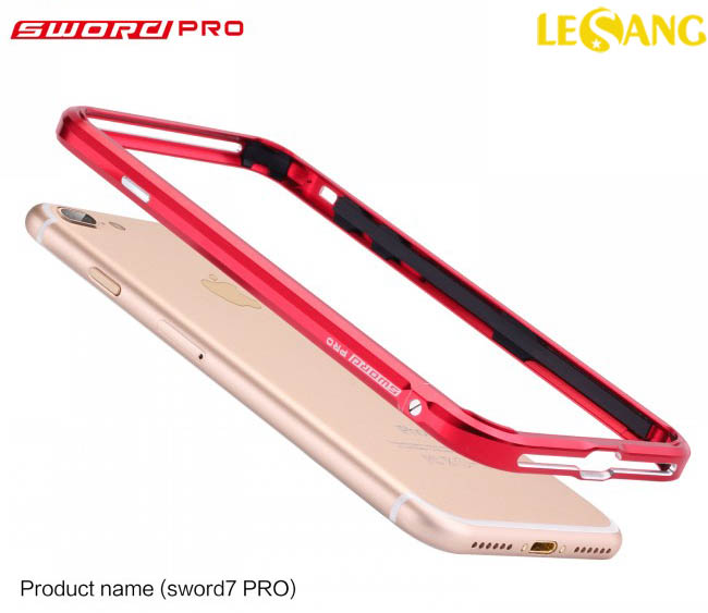 Ốp viền iphone 7 Plus Sword PRO nhôm Aluminum siêu cứng Japan - 3