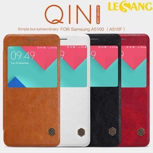 Bao da Galaxy A5 2016 Nillkin QIN View Leather