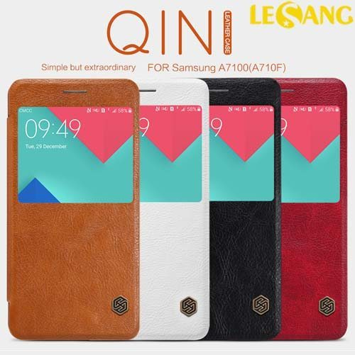 Bao da Galaxy A7 2016 Nillkin QIN View Leather
