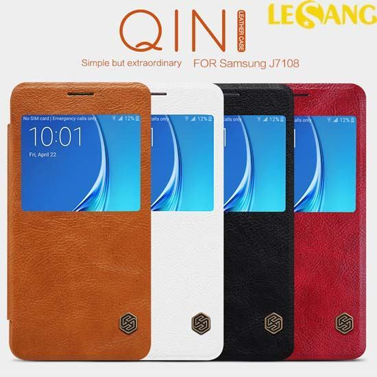 Bao da Galaxy J7 2016 Nillkin QIN View Leather