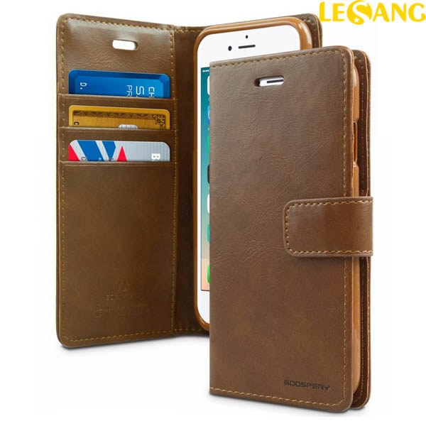 Bao da iPhone 8 Plus / 7 Plus Mercury Blue Moon Wallet Diary