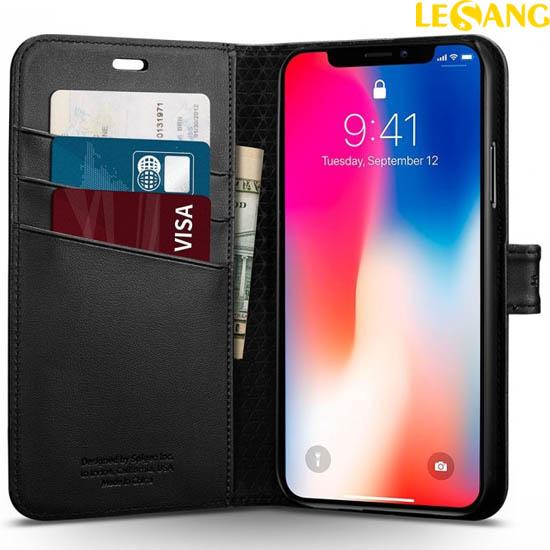 Bao da iPhone X / iPhone 10 Spigen Wallet S