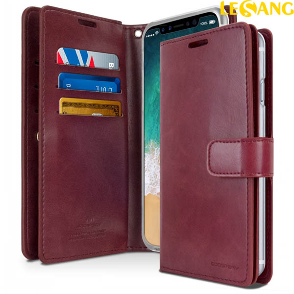 Bao da iPhone X Mercury Mansoor Wallet Diary Case