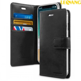 Bao da iPhone XS Max Mercury Blue Moon Wallet Diary