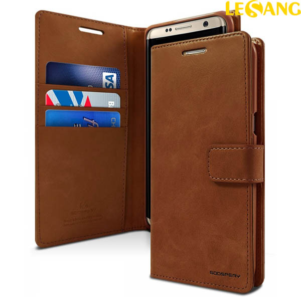 Bao da Samsung Galaxy S8 Mercury Blue Moon Wallet Diary