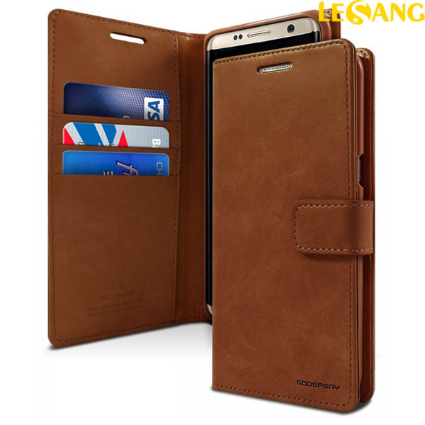 Bao da Samsung Galaxy S9 Plus Mercury Blue Moon Wallet Diary