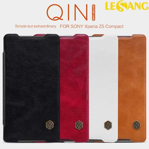 Bao da Sony Z5 Compact Nillkin QIN Leather