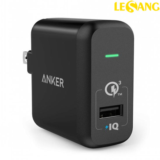Cục sạc nhanh Anker PowerPort + Quick Charge 3.0 - 18W (USA)