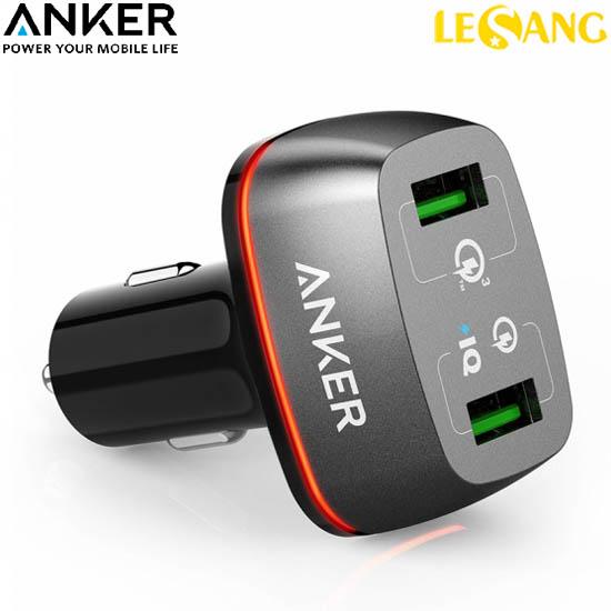 Cục sạc trên Ô TÔ 2 cổng USB Anker Power+ 3.0 Quick Charge (USA)