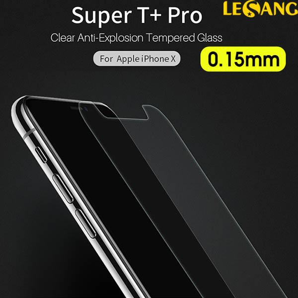 Dán kính cường lực iPhone X Nillkin T+ Pro 0.15mm Super Thin