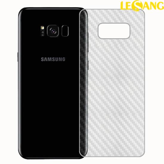Miếng dán Full mặt sau Galaxy S8 Plus vân Carbon