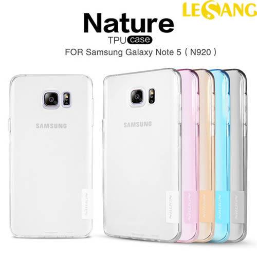 Ốp lưng Galaxy Note 5 Nillkin nhựa dẻo trong suốt