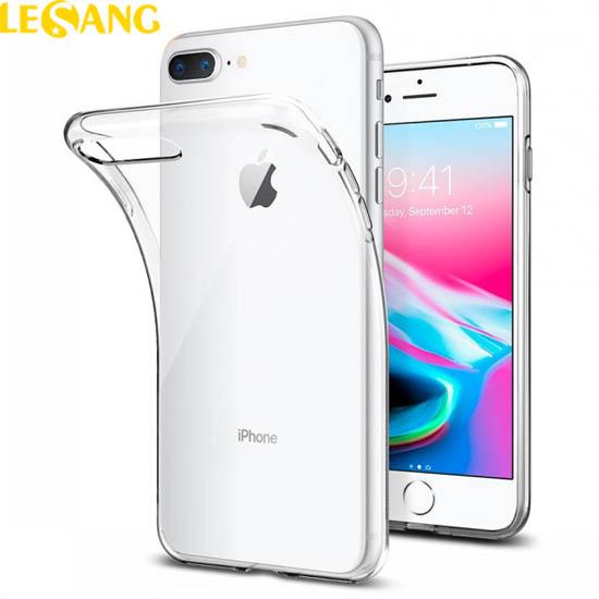 Ốp lưng iPhone 8 Plus / 7 Plus Spigen Liquid Crytal nhựa dẻo trong suốt