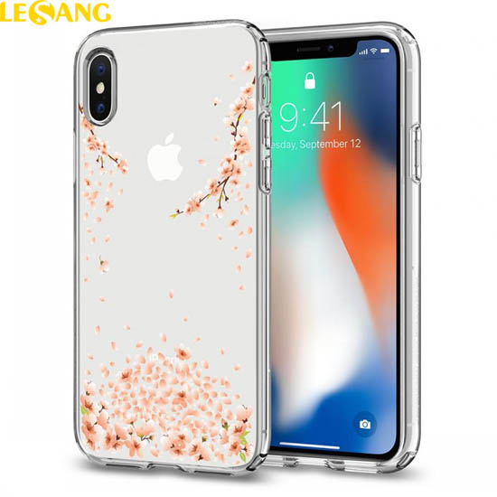 Ốp lưng iPhone X / iPhone 10 Spigen Liquid Crystal Blossom