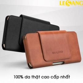 Bao da đeo thắt lưng da thật Qlino Premium (5.5 - 5.8 inch)