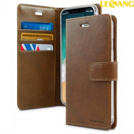 Bao da iPhone XR Mercury Blue Moon Wallet Diary