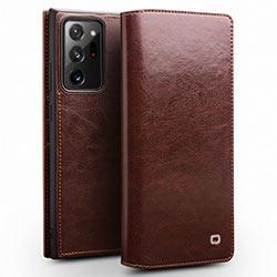 Bao da Samsung Note 20 Ultra 5G Qlino Wallet da bò thật