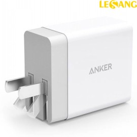 Củ sạc nhanh 2 cổng USB Anker PowerPort 2- 12W (USA)