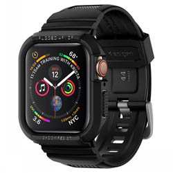 Ốp + dây đeo Apple Watch Series 4 / 5 (44mm) Spigen Rugged Armor Pro