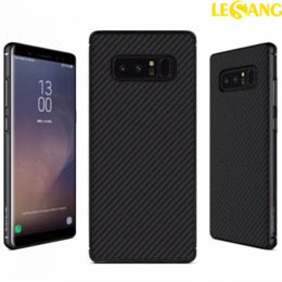 Ốp lưng Galaxy Note 8 Nillkin Synthetic Fiber Green Carbon
